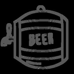 Doodle de cerveja de barril