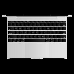 Ilustración de computadora portátil de teclado netbook portátil