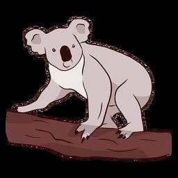 Koala oreja pierna nariz rama ilustración