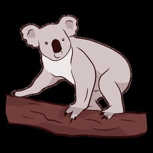 Ilustração de ramo de nariz de perna de orelha de coala Transparent PNG