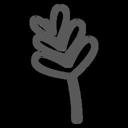 Doodle de caule de folhas