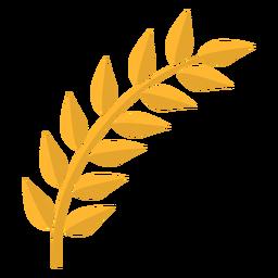 Blattstiel flach