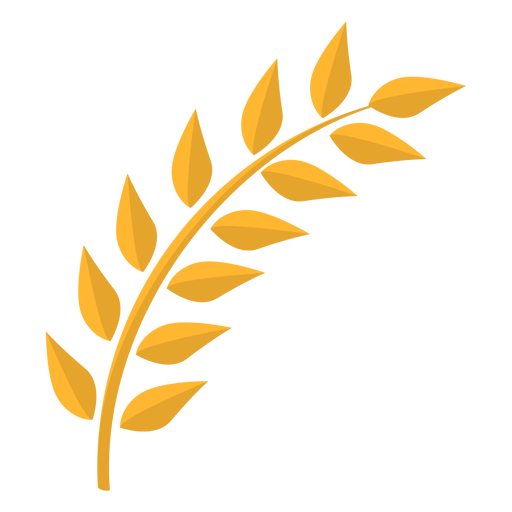Leaf stem flat Transparent PNG