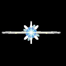 Patch de lente de mancha de raio de feixe de luz