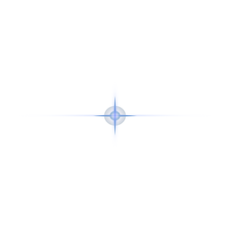 Parche de lente de mota de luz de haz de rayos de luz punto cruzado