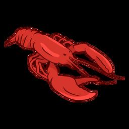 Ilustración de cola de garra de antena de langosta