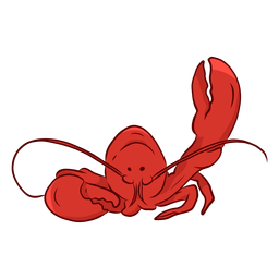 Ilustração de antena de garra de lagosta