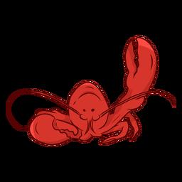 Ilustración de antena de pinza de langosta