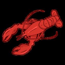 Ilustración de cola de antena de pinza de langosta