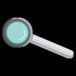 Ilustración de mango de lente de lupa