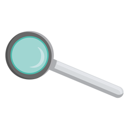 Loupe lens handle illustration