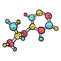 Molekülmodellzelle flach