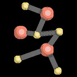 Ilustração de célula de modelo de molécula