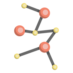 Molecule model cell illustration