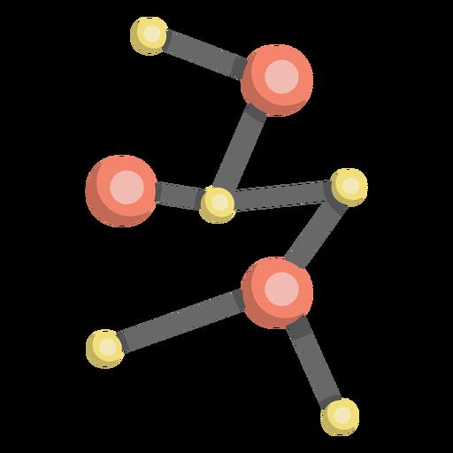 Molécula modelo de ilustración celular. Transparent PNG