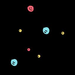 Molekülmodell flach