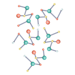 Molecule model illustration