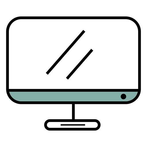 Monitor icon stroke Transparent PNG