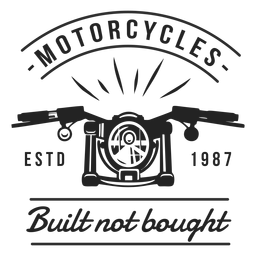 Motocicleta emblema da divisa do farol