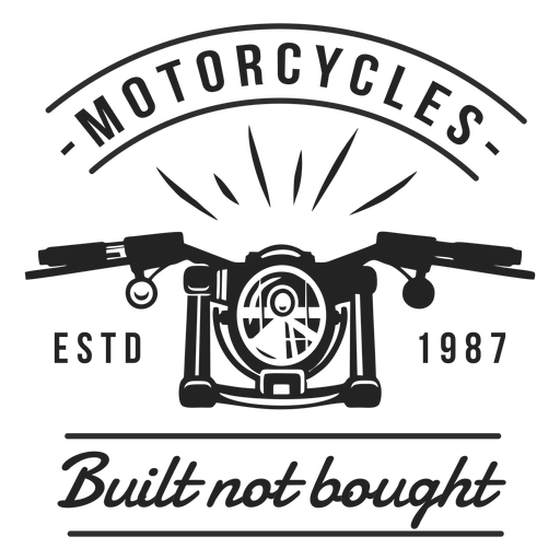 Motocycle headlight motto badge Transparent PNG