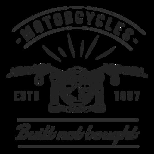 Motocycle headlight motto badge