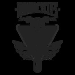 Distintivo de farol de roda de moto