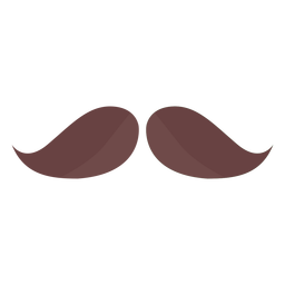 Moustache hair man flat