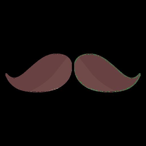 Moustache hair man flat Transparent PNG