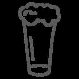 Doodle de cerveja de caneca