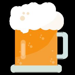 Becher Bier flach