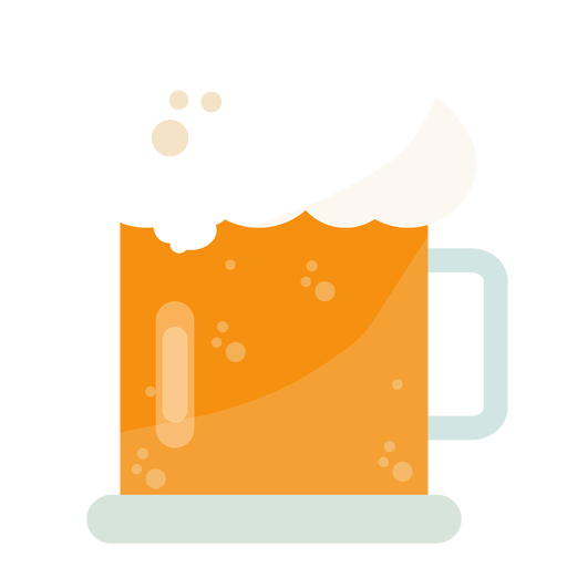 Krug Bier flach Transparent PNG