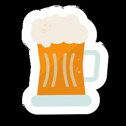 Becher Bier Aufkleber