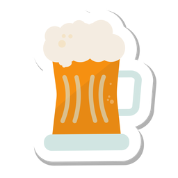 Mug beer sticker