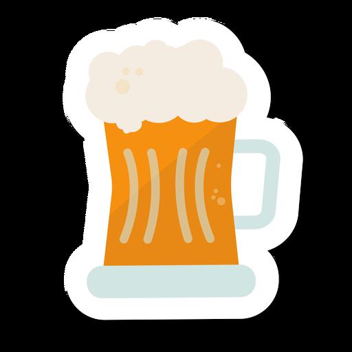 Adesivo de cerveja de caneca Transparent PNG