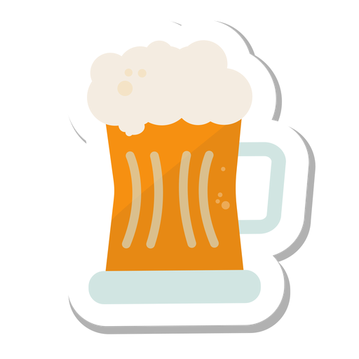 Mug beer sticker Transparent PNG