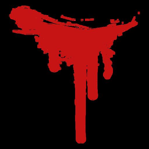 Asesinato pintura sangre silueta