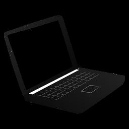 Netbook Notebook Laptop Bildschirm Silhouette