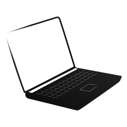 Netbook notebook laptop screen silhouette
