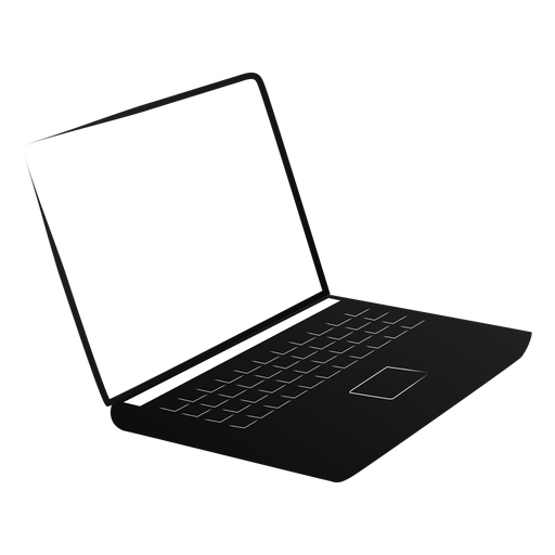 Netbook notebook laptop screen silhouette Transparent PNG