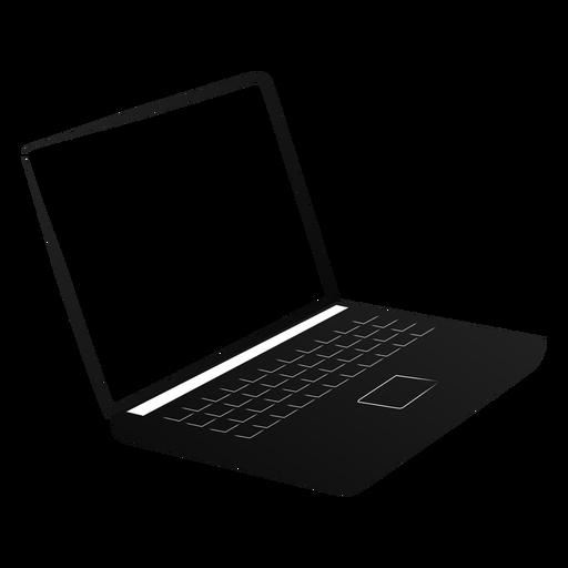 Silhueta de tela de laptop netbook notebook Transparent PNG