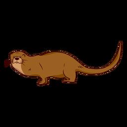 Otter muzzle illustration