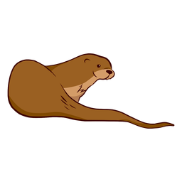 Otter muzzle tail illustration
