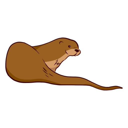 Otter muzzle tail illustration Transparent PNG