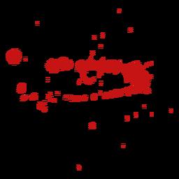 Pinte respingos de sangue