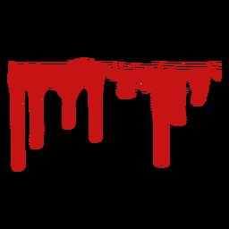 Pintar a silhueta de mancha de sangue