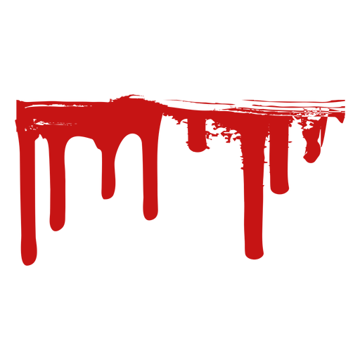 Paint blood stain silhouette