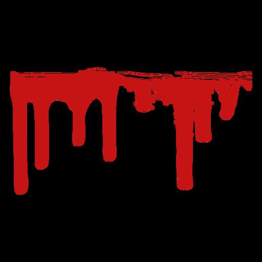 Pintar la mancha de sangre silueta Transparent PNG