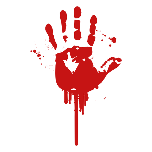 Palm finger print blood silhouette Transparent PNG