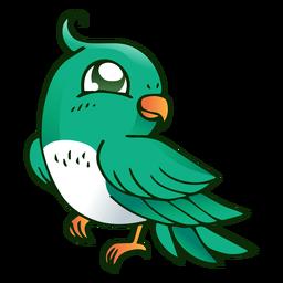 Ilustração de crista de bico papagaio