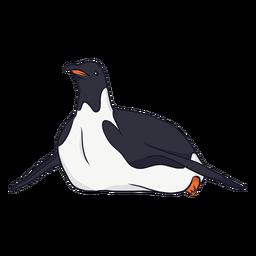 Ilustración de rastreo de pico de ala de pingüino